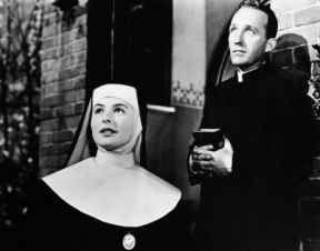 ca. 1945 --- Ingrid Bergman plays Sister Benedict, and Bing Crosby as Father Chuck O'Malley in the 1945 film . --- Image by © John Springer Collection/CORBIS